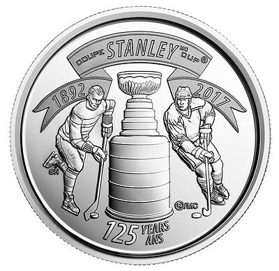 2017 Canada 25¢ 125Th Anniversary Of Stanley Cup Brilliant Uncirculated Quarter