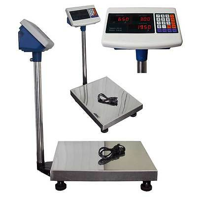 Weight Computing Scale 600lb Digital Floor Platform Shipping Warehouse Postal