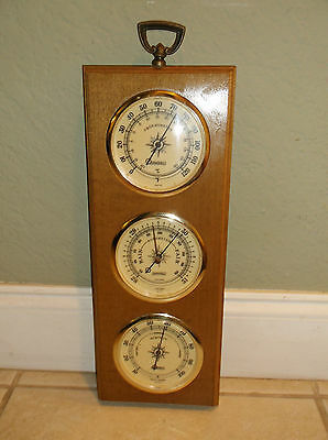 Vintage Thermometer, Barometer, Humidity Instrument/made In Usa