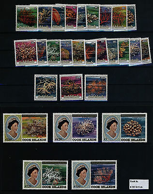 COOK ISLANDS Stamps - # 787 - 815 MNH