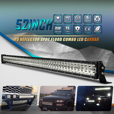 6D+ 52inch 700W Curved LED Work Combo Light Bar Fit For GMC Chevrolet Silverado
