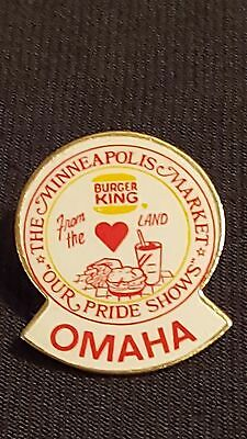 OMAHA Burger King Pin From the Heartland Minneapolis Market Our Pride Shows