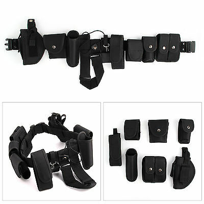 Police Guard Belt Utility Security Kit 9 Pouches Utility Kit Security System