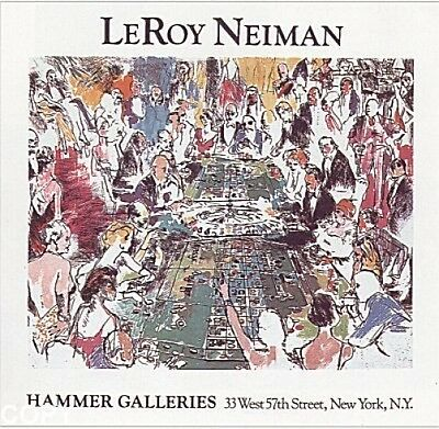 "Lot of 10 Leroy Neiman ""GAME OF LIFE"" plate signed  poster  CASINO GAMBLING"