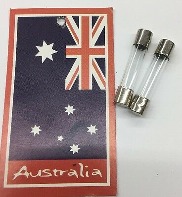 2x Glass Fuse Size 6x30mm F5AL250V Oz Stock Free Shipping