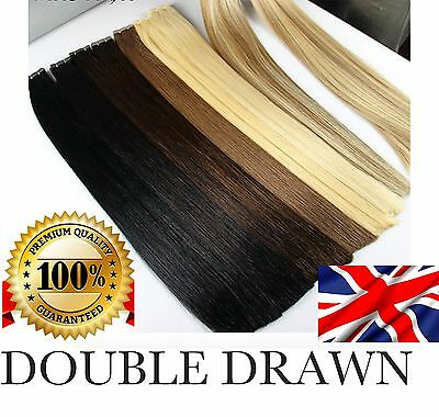 "16"" 18"" 20""  22"" 24"" Double Drawn Seamlees Tape In 100%  Human Hair Extensions"