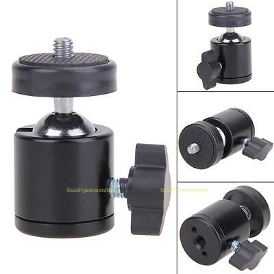 "360 Swivel Ball Head 1/4"" Screw DSLR Camera Tripod Monopod Ballhead Stand Mount"