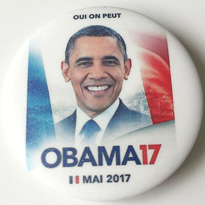 2017 Obama France PRESIDENTIAL CAMPAIGN BUTTON