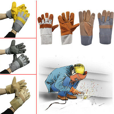 Soft Welding Cowhide Leather Gloves Heat Shield Cover Guard Safe Protection