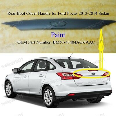 New Rear Trunk Door Tailgate Handle Cover Trim For Ford Foucs 2012-2014 Sedan