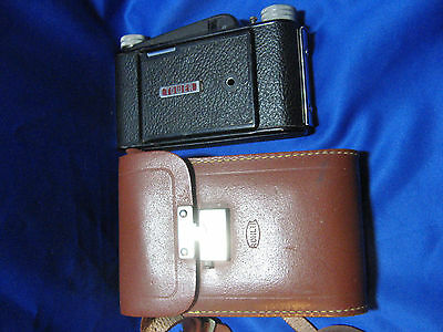 Vintage Tower Folding Bellow Camera 120 Film with Leather Case