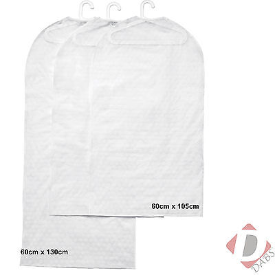 IKEA PLURING Suit Bag Dress Protector White Wardrobe Clothes Covers