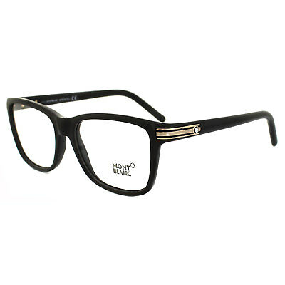 Mont Blanc Glasses Frames MB0477 005 Black & Gold
