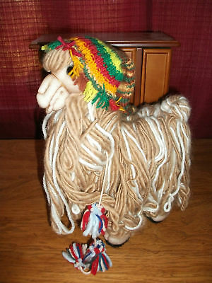 Brand New Handmade In Peru Original SURI Alpaca Stuffed Animal ~ Green Chullo