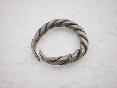 ANCIENT RARE Viking Twisted Silver FINGER RING ca 9 - 10 century AD Wearable