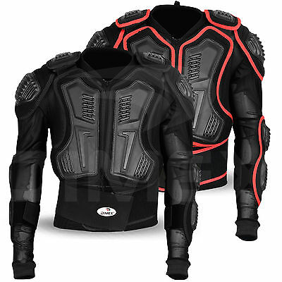 Motocross Motorbike Body Armour Motorcycle Protector Guard Jacket Black Dimex