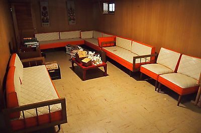 Mid Century 4 Leather Couches And 2 Leather Chairs 1962