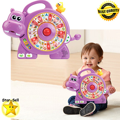 Kids Toys Toddler Educational Toy Spinning Lights Learning Hippo Baby Play Set