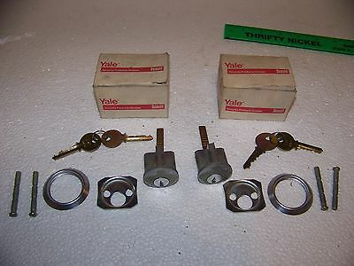 Lot of 2 Yale Complete Rim Lock Cylinders with keys