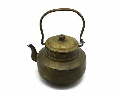 Old Brass Chinese Teapot - Dragon, Estate Find, Primitive Made