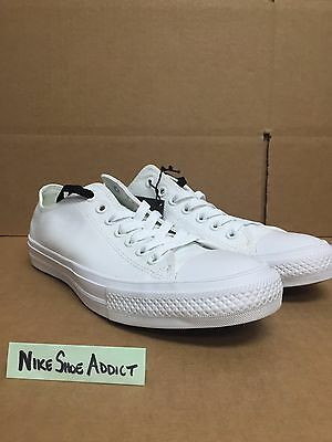 6bf56db878be Converse All Star Chuck Taylor CT II 2 OX Low Triple White 150154C Lunarlon  top