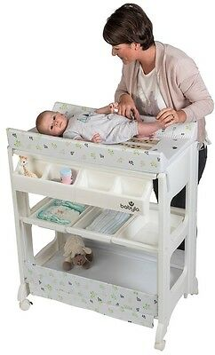 Baby Nappy Changing Station With Removable Bath Unit Changer Nappy Newborn Safe