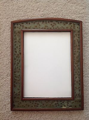 Vintage 1920's Chinese Art Deco Carved Jade Rosewood Picture Frame