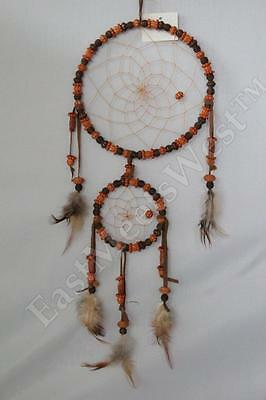 Handmade Double Beads Dream Catcher feathers wall hanging ornament Decor #3