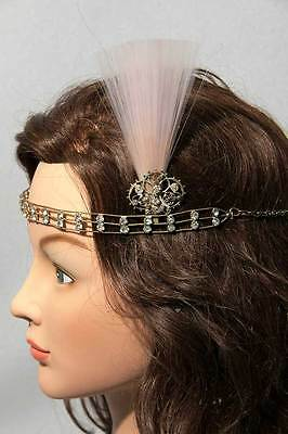 RARE VINTAGE 20s DECO FLAPPER ANTIQUE HEADPIECE HEADBAND NOS DOWNTON GATSBY