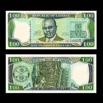 2009 West Africa Liberia --  $100 Dollar 100  = Great Note =