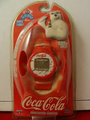 Sealed Pkg COCA-COLA Animated 1998 Polar World Coke Watch Trendmasters Watch!