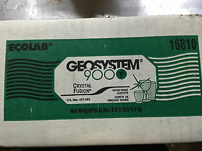 Ecolab Geosystem 9000 Crystal Fusion Solid Rinse Additive, Full Case, Free Ship