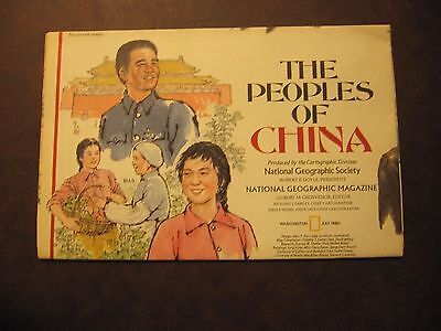 July 1980 The Peoples of China National Geographic Society Map