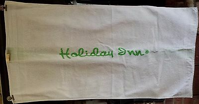 Vintage Holiday Inn White with Green Bath Towel