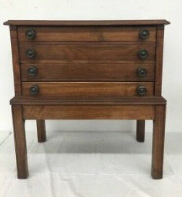Antique Four Drawer Spool Sewing Cabinet