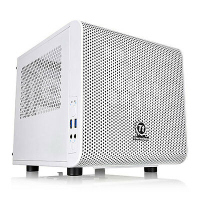 Thermaltake Core V1 White Snow Edition Mini-ITX Cube Case with Window, 1x 200mm