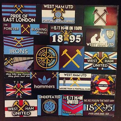 100 x West Ham Stickers Based on ICF Programme Upton Park Hammers Irons 1966 WHU