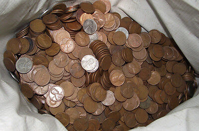 5000 Lincoln Wheat Cents ***Mostly 1940's-1950's****** BAG OF 5000*****