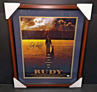 Rudy Ruettiger MOVIE POSTER SIGNED AUTOGRAPHED FRAMED 16X20 PHOTO JSA COA