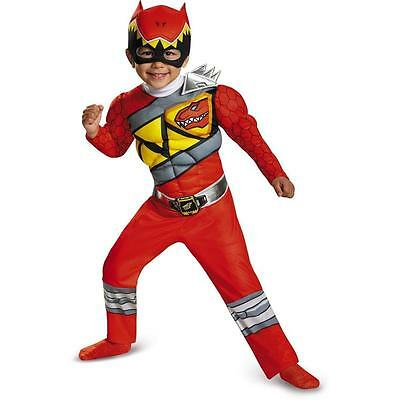 NEW Power Rangers Dino Charge: Red Ranger Muscle Chest size S 2T Costume Toddler