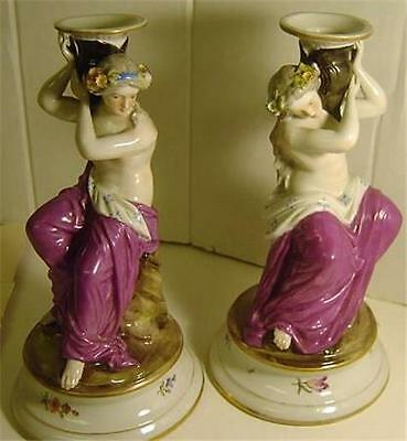 Pair German Porcelian Figurine by famous doll maker