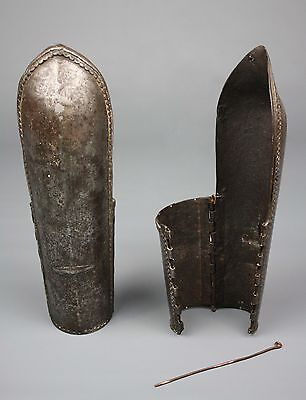 Antique Bazubands/Armguards, Mughal Empire, India, 17th Century, Steel, Pair