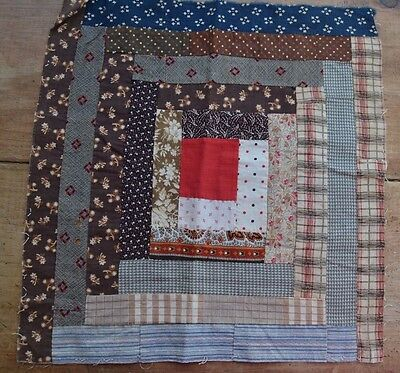 """Antique Quilt Squares, lot of 9, Approximately 13"""" x 13"""""""