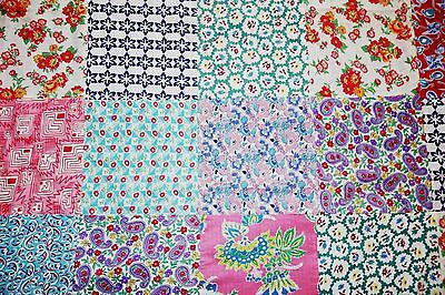 "Antique Vintage 1930's Feedsack Quilt Top  93"" X 68"""