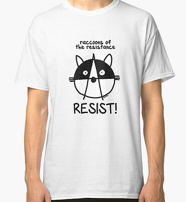 New Join the raccoons of the resistance! Resist! Men's T-Shirt Size S-2XL