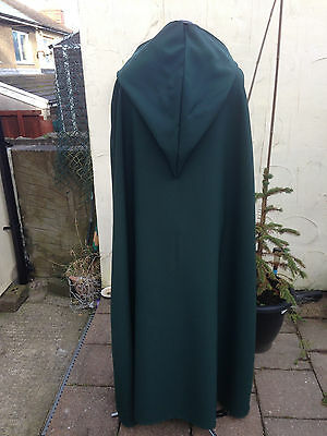 pointy hooded cloak  bottle green   more colours available (C44)