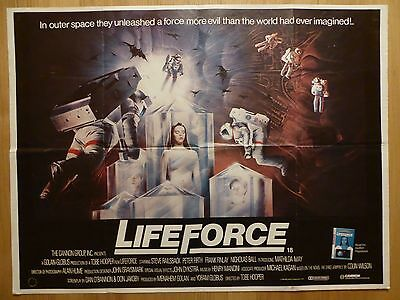 LIFEFORCE (1985) - original UK quad film/movie poster, sci-fi space horror