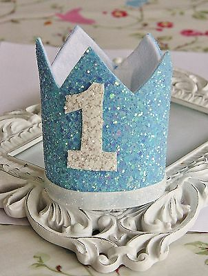 Glitter Baby Boy Girl Crown Tiara Headband Hairband Birthday Cake Smash Photo