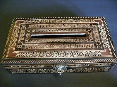 Large Hand Made Wooden Inlay Box from the Middle East - Egypt, Persia