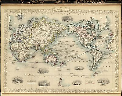 1851 Illustrated and Modern World Atlas 80 antique maps by Montgomery Martin A10